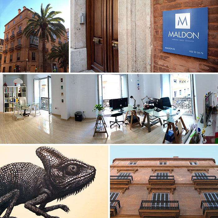 Maldon Agencia Digital en el barrio del Soho de Málaga