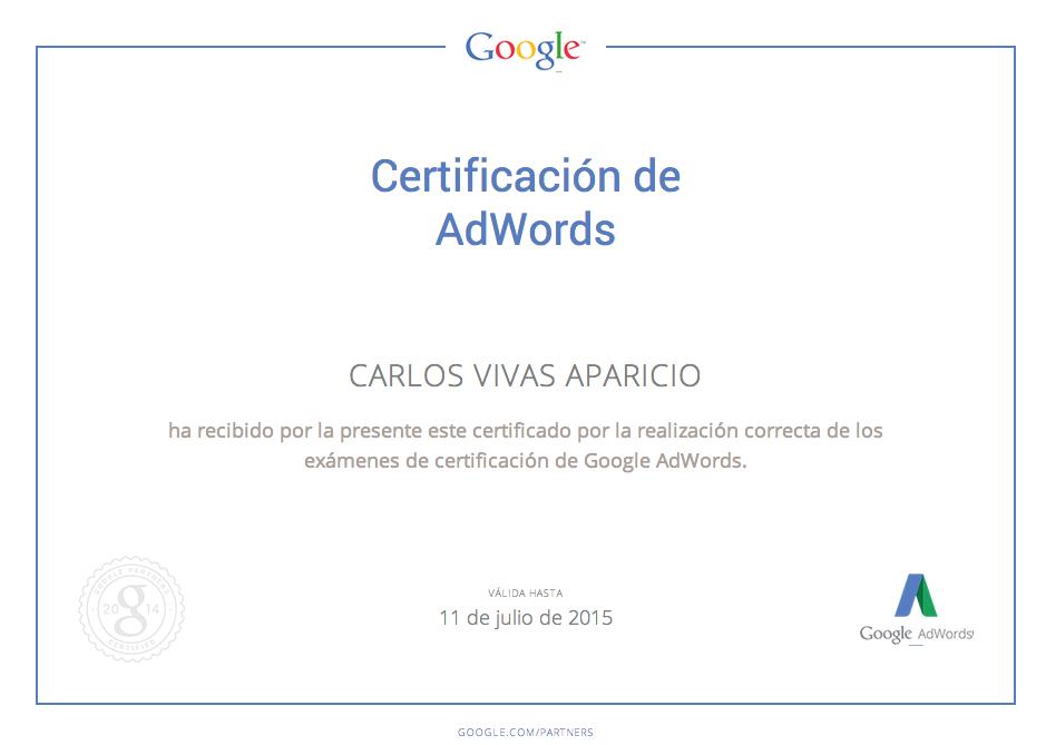Certificacion google adwords Agencia Maldon