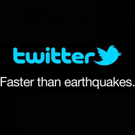 terremoto twiiter es mas rapido