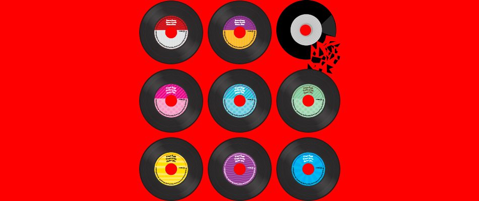 día de la música diseños portadas discos